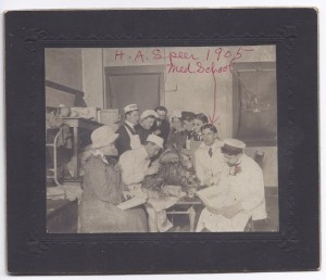 HOMER SPEER SR IN DOCTOR SCHOOL WITH CADAVER